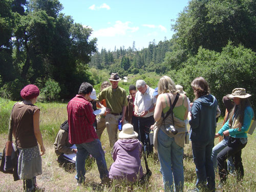 Ben (center, wearing the hat), with the intermediate students